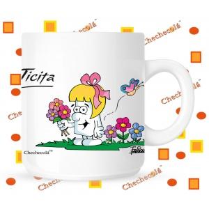 Taza Ticita flores