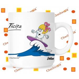 Taza Ticita surfera