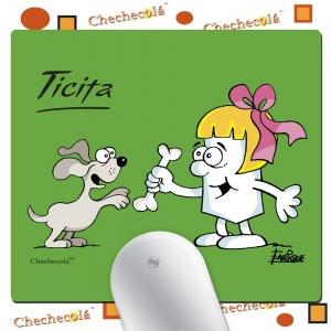 """Alfombrilla de ratón Enrique """"Ticita surfera"""""""